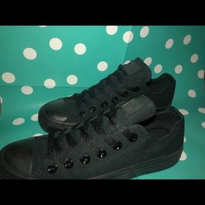 All Black Converse All-Stars (worn 1-2 times)